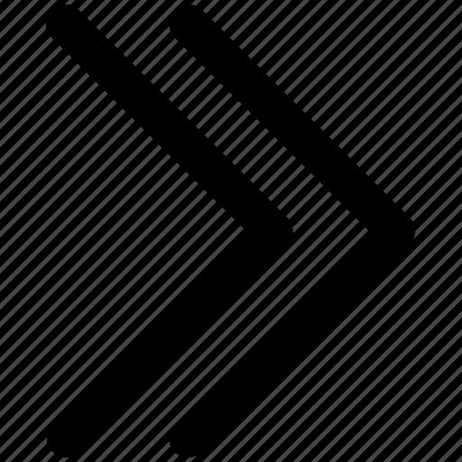 arrow, disclosure, forward, right arrow icon