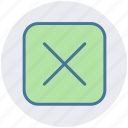 abstract, cross, delete, multiply, sign, x sign icon