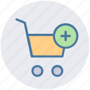 add, cart, ecommerce, plus, shopping, shopping cart