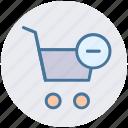 cart, ecommerce, minus, remove, shopping, shopping cart