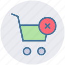 cart, cross, delete, ecommerce, shopping, shopping cart