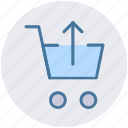 cart, ecommerce, shopping, shopping cart, up, up arrow icon