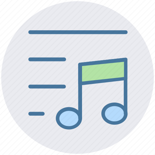 Lines, multimedia, music, note, sound icon - Download on Iconfinder