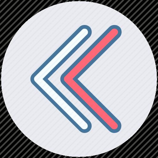 arrow, disclosure, forward, left arrow icon