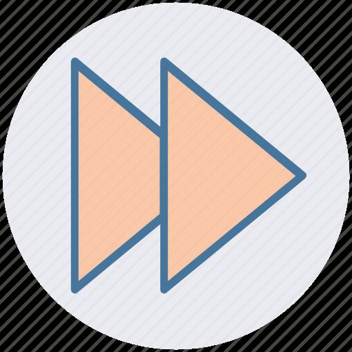 fast, forward, multimedia, music, skip, sound icon