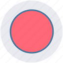 audio, circle, media, multimedia, video icon