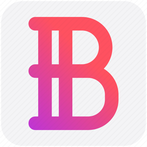 B sign, edit, font, text icon - Download on Iconfinder
