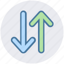 arrows, change arrows, exchange, left and right icon