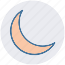 crescent, new moon, night, night moon, weather icon