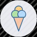 cone, cone ice cream, food, ice, ice cream, ice cream cone icon