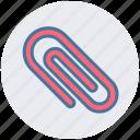 attach, attachment, board clip, clamp, clip, paper clip icon
