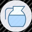 drink, jar, jug, milk, water, water jug icon