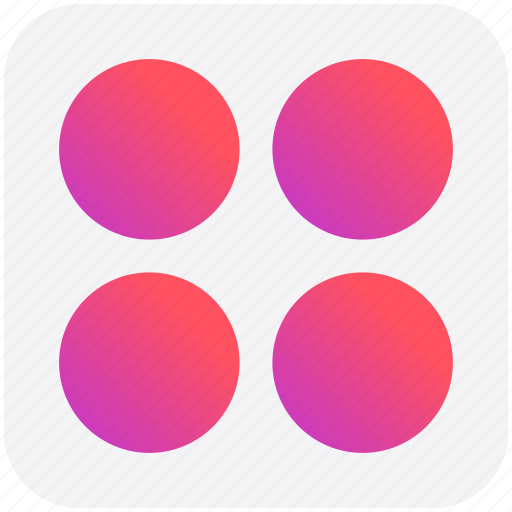 App, application, circle, four circles, sign icon - Download on Iconfinder