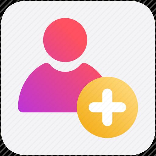 add, employee, human, people, plus, profile, user icon