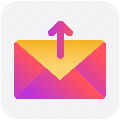 arrow, email, envelope, letter, mail, message, up icon