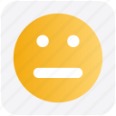 emoji, face, femotion, neutral, smiley face icon