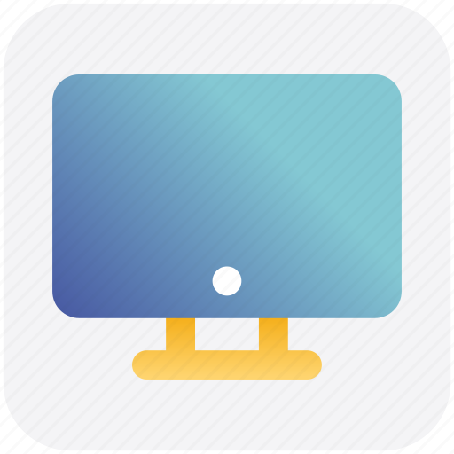 Computer, display, lcd, led, monitor, screen, tv icon - Download on Iconfinder