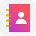 address book, book, contacts book, person, user