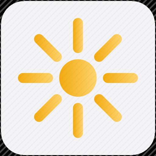 Brightness, light, shine, sun, sunlight, sunny, weather icon - Download on Iconfinder