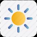 brightness, light, shine, sun, sunlight, sunny, weather icon