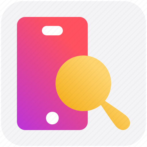 Cell phone zoom, magnifier, mobile, search, searching, smartphone icon - Download on Iconfinder