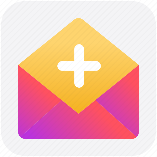 email, envelope, letter, mail, message, open envelope, plus icon