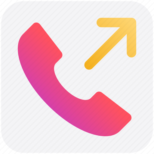 arrow, call, calling, outgoing, receiver, telephone icon