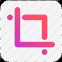 crop, image, measure, modify, tool, transform icon