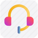 device, earphone, handset, headphone, headphones, music icon