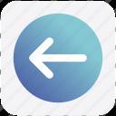 arrow, box, forward, left, material icon