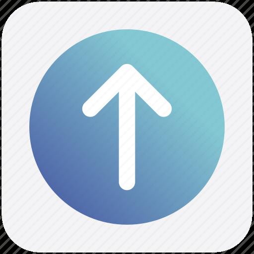 arrow, box, forward, material, up icon