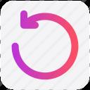 arrow, circle, line, rotate, up icon