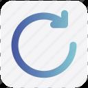 arrow, circle, down, line, rotate icon