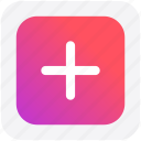 add, cross, increases, more, plus, sign icon