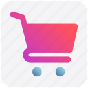 basket, cart, ecommerce, shopping, shopping cart, trolley icon