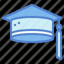 cap, graduation, mortarboard, university icon