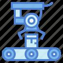 conveyor, industrial, mechanical, robot icon