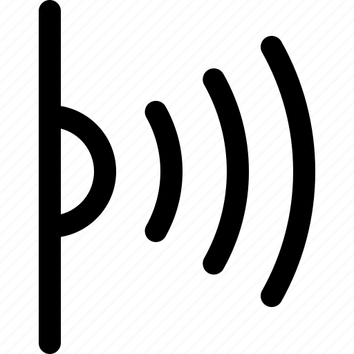 beam, internet, item, signal, touch icon
