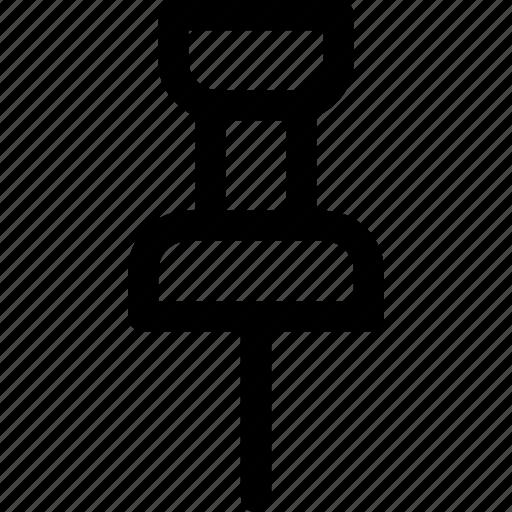 bookmark, needle, pin, sharp icon
