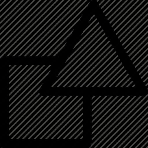 geometric, shapes, square, triangle icon