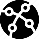 blockchain, global, internet, network, nodes icon