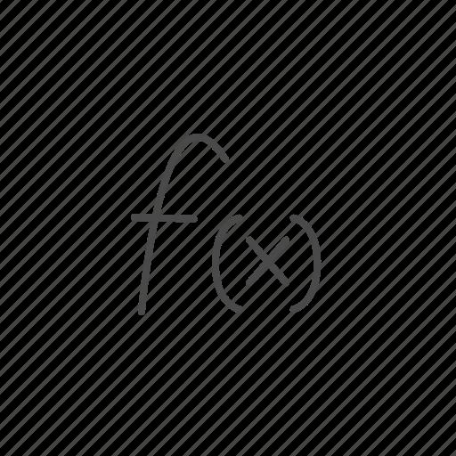 formula, function, graph, graphic, math, mathematics, stock icon