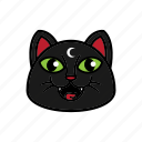 avatar, cat, face, night, smile icon