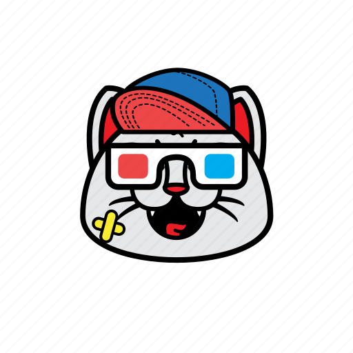 avatar, cat, face, smile, snapback icon