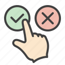 accept, button, check, agree, confirm