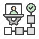 project, manager, project manager, management, workflow, planning, admin icon