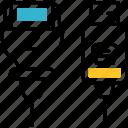 connector, plug, cables, usb, socket icon