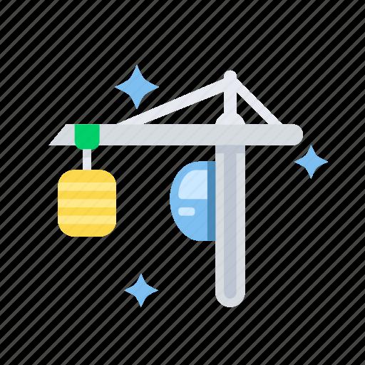 building, construction, crane, hook, lift, logistic icon