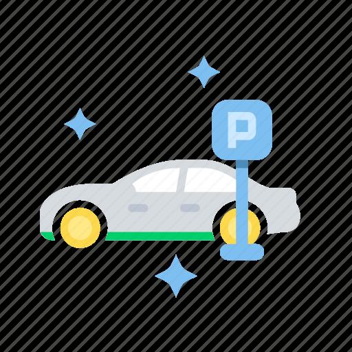 car, parking, street, transport, transportation, vehicle icon