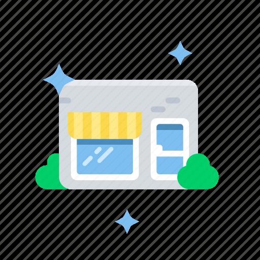 building, business, commerce, shop, store icon